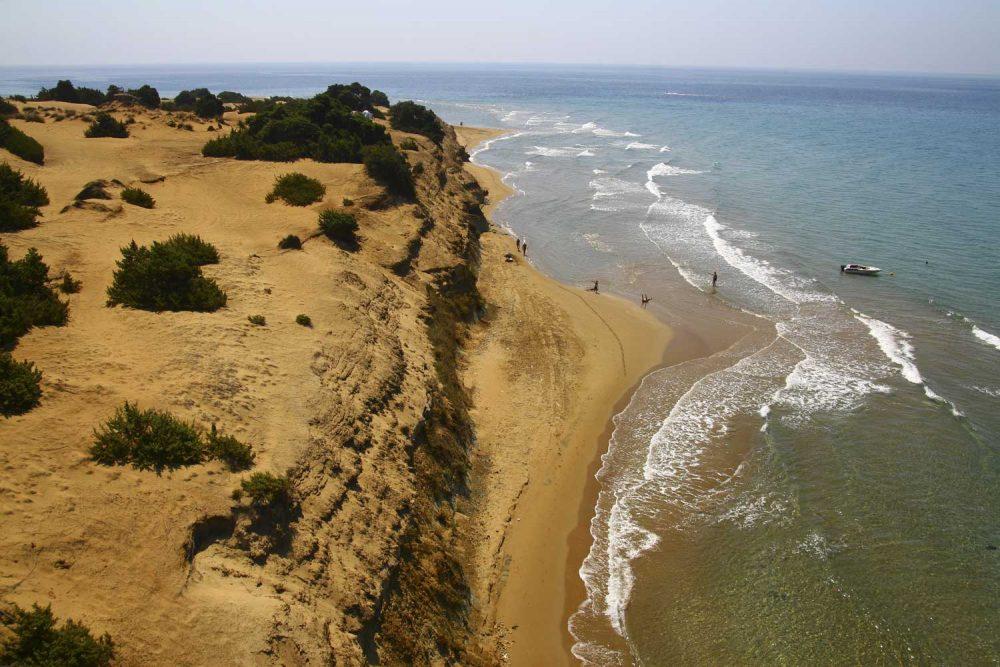 chalikounas beach corfu liostasi villas