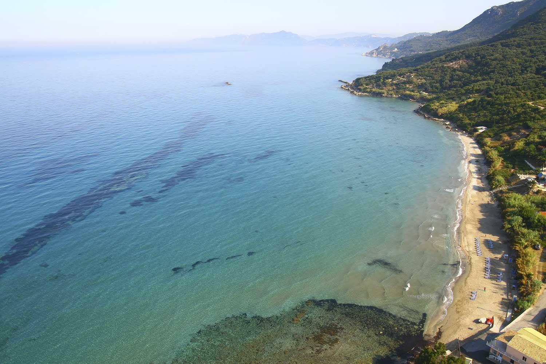 paramonas beach corfu liostasi villas